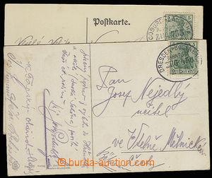 30589 - 1908-15 NĚMECKO  2ks pohlednic s raz. VLP Zug 456 DRESDEN -