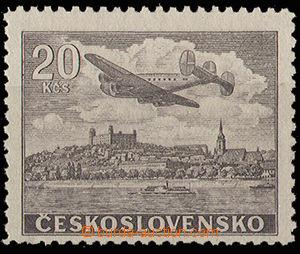 30607 - 1946 20Kčs hnědá, nevydaná, Pof.L22N, zk. Gilbert, luxus