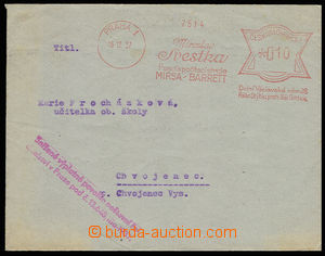30613 - 1937 envelope sent as printed matter with reduced postage! m