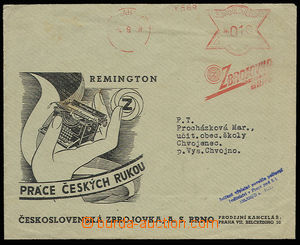30614 - 1938 envelope with advertising added print sent as printed m