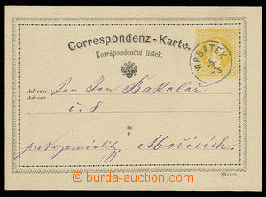 30616 - 1873 PC 2 Kreuzer yellow, Mi.P18 with superb blue print post