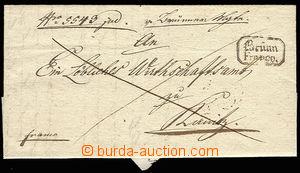 30617 - 1833 folded letter with frame cancel. BRÜNN / FRANCO., nice