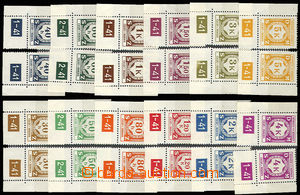 30621 - 1941 issue I, Pof.SL1-12, selection of L and P corner pieces