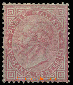 30638 - 1863 clear stmp 40c carmine, Mi.20, strong hint on L upper c