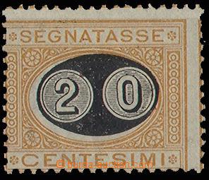 30639 - 1890 doplatní přetisková zn. 20C/1C, Mi.P16, lehká stopa
