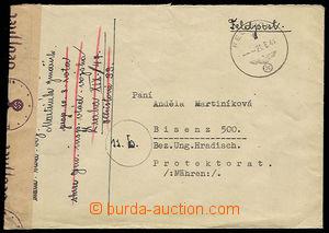 30758 - 1944 letter sent through/over German FP, CDS FP 21.6.44, sen