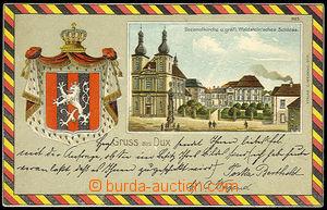 31062 - 1900? DUCHCOV - Gruss aus Dux, barevná litografická kolá�