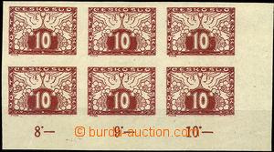 31441 - 1919 Pof.S3 v 6-bloku, dolní pravý roh s okraji a počíta
