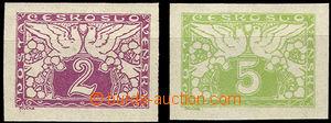 31442 - 1919 Pof.S1-2N, nevydané známky na bílém papíru, pěkn�