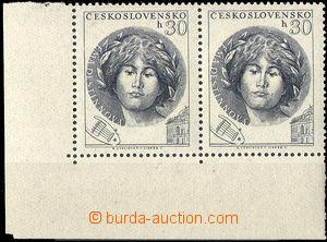31472 - 1953 Pof.ST757, L the bottom corner Pr joined types II. + I.