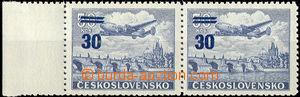 31485 - 1949 Pof.L32ST, Přetisková provizoria, vodorovná 2-páska