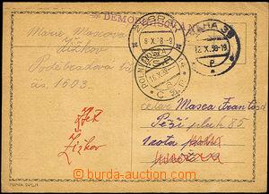 31529 - 1938 lístek zaslaný na PP 14 a vrácen zpět odesílatelce