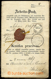 31795 - 1867 Arbeits-Buch/ Book labour, issued municipal off. in/at