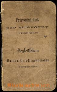 31796 - 1902 Průvodní list pro stravovny v Království českém -