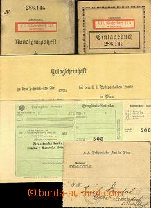 31848 - 1907/14 BANKOVNÍ MATERIÁLY  c.k. poštovní spořitelny ve