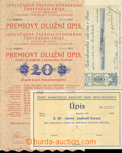 31856 - 1920/39 Notes and checks - 1x note on/for 50K for Czech dobr