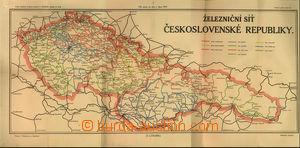 32046 - 1919 mapa železniční sítě Československé republiky ke