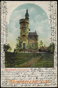 32108 - 1901 rozhledna - Stefaniewarte, Karlovy Vary,  barevná,  DA