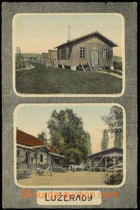 32110 - 1930? Lužerady, color 2-views, sruby and restaurant, Un, li