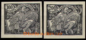 32205 - 1920 Pof.164-165, black prints values 100h and 200h on white