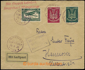 32214 - 1922 air-mail letter franked with. stamps Mi.112, 215, 216,