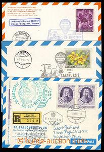 32219 - 1961/64 5ks lístků balónových letů č.25, 26, 27, 30, 3