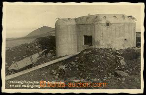32237 - 1938 bunkr na hřebenech  Krkonoš, nedokončené okolí, č