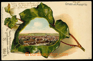 32307 - 1908 HUSTOPEČE (Auspitz) - collage ivy, lithography color,