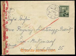 32423 - 1943 dopis do Vídně s razítkem VLP č.1b PREŠOV - BRATIS