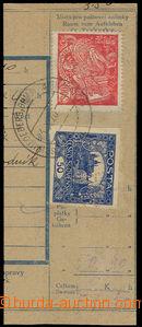 32543 - 1920 2x perfin A.Kalla (rybí konzervy), perf. A.K., Maxa A3