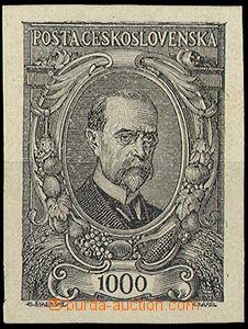 32577 - 1920 Pof.142ZT, černotisk na hladkém křídovém papíru,