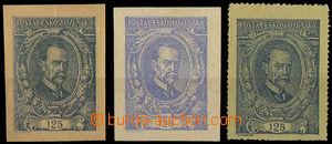 32579 - 1920 Pof.140ZT, zkoušky tisku na barevných papírech, 1x u