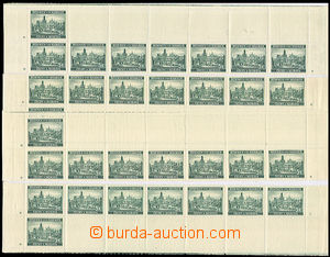 32592 - 1939 Pof.38, upper and lower double strips with plate marks