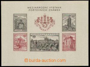 32614 - 1955 Pof.A853/857A+B, miniature sheet PRAGA 1955, perf type