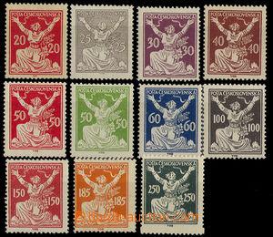 32753 - 1920 Pof.151A-161A, 1x hint (150h), 1x light fold (185h), ot