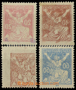 32765 - 1920 Pof.151, 154, 157, offsets 2x sheet, 2x machine, 1x hin