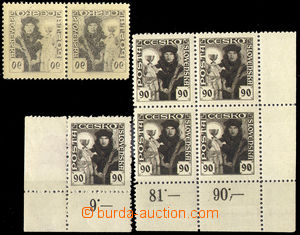 32802 - 1920 Pof.163, small selection of - pair with full sheet offs