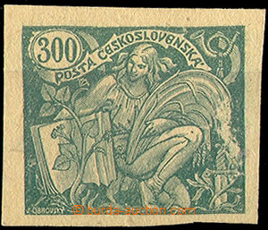 32805 - 1920 Pof.166ZT, trial print in/at green color for value 300h