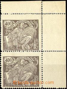 32806 - 1920 Pof.167ST, right upper, corner vertical pair with margi