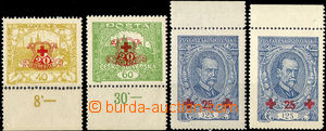 32807 - 1920 Pof.170-2, stmp No.172 both types, all with margin 2x w