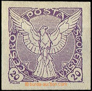 32832 - 1918 Pof.NV5N  Sokol, unissued, violet color, nice margins,