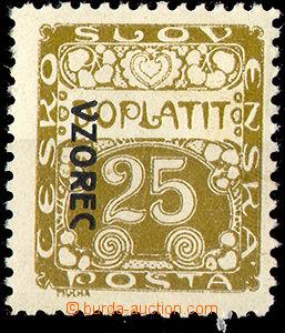 32833 - 1919 Pof.DL5vz, ŘZ 10½, přetisk VZOREC vlevo, stopa