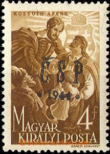 32851 - 1944 Pof.RV191, Chustský přetisk ČSP 1944, svěží, zk. Blaha,