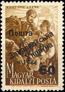 32852 - 1945 Mi.D77 přetisk Pošta Zakarpatská Ukrajina 60 na Chus