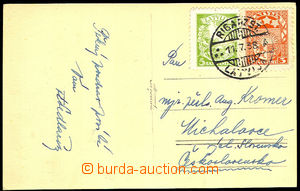 32884 - 1938 postcard to Czechoslovakia with Mi.171, 233, CDS Riga/