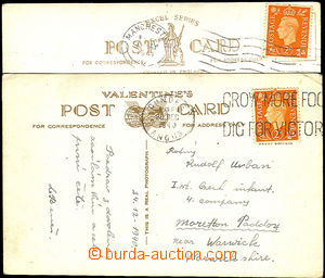 32912 - 1940/41 3 postcard from England, sent on/for members Czechos
