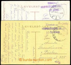 32919 - 1919 2x pohlednice Mukačeva zaslaná PP, 1x DR Munkacs/ 919