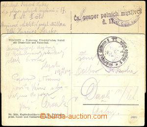 32920 - 1919 2 pohlednice zaslané z období obsazování Těšínsk