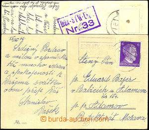 32949 - 1942 2x postcard with postal agency pmk BRÜX - STW LAGER (c