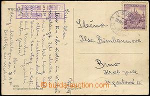 32950 - 1941 pohlednice s razítkem poštovny pracovního tábora DA